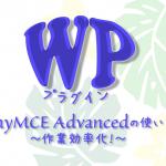 ワードプレスの作業効率化におすすめ!TinyMCE Advancedの使い方