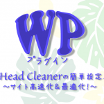 WPおすすめプラグイン!ソース最適化してくれるHead Cleanerの設定方法!