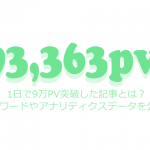 1日で9万PV突破した記事とは?キーワードやアナリティクスデータを公開!