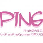 Ping送信先設定とWordPress Ping Optimizerの導入方法!